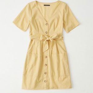 Abercrombie Yellow Button-up Dress